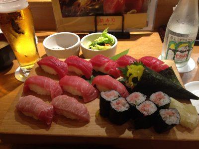 Il primo sushi che ho mangiato a Tokyo