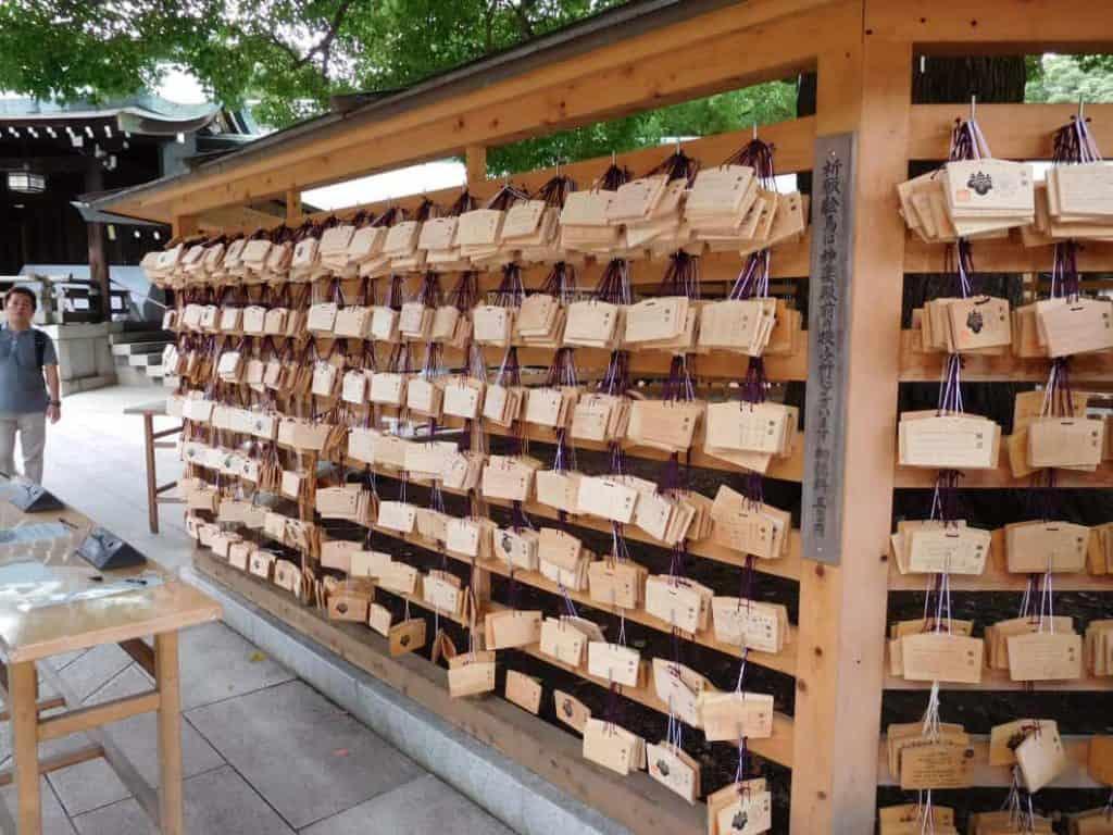 Come sono fatte le Tavolette Ema nel Santuario di Meiji a Tokyo