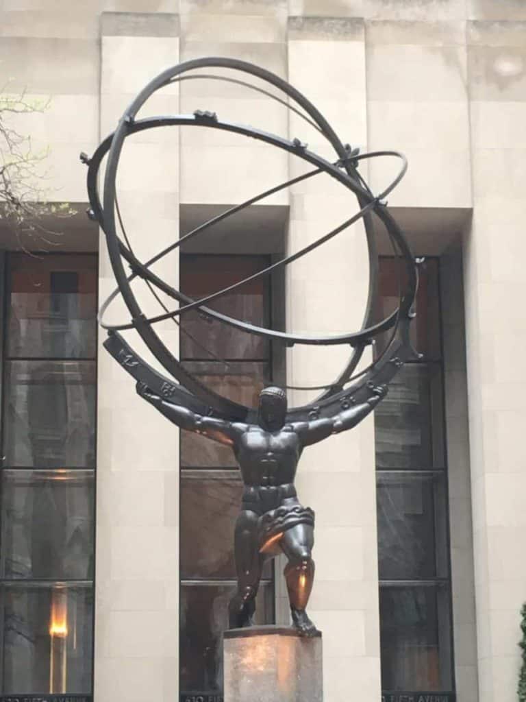 Statua Prometeo Rockefeller Center New York