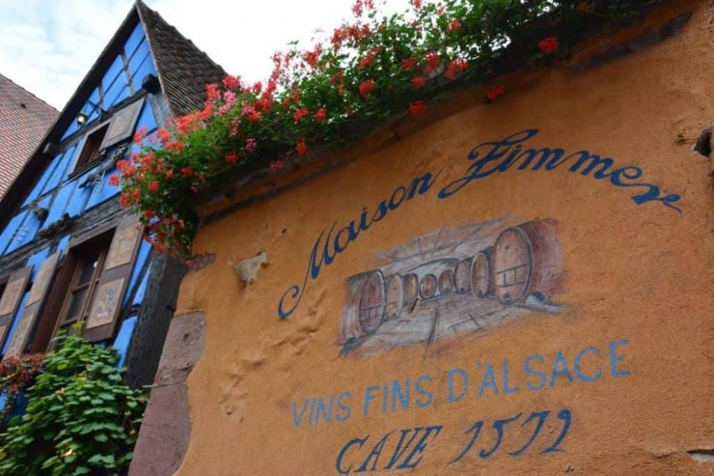Cantina di vini in Alsazia