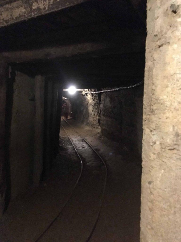corridoi della miniera di prali