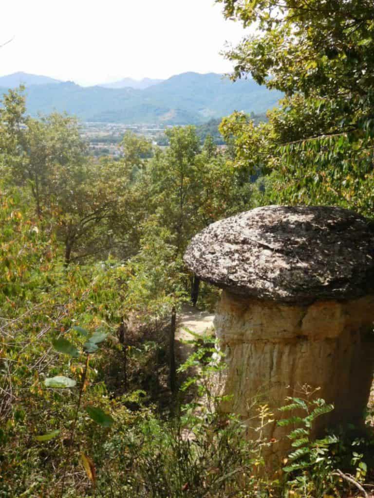 Panorama della riserva naturale di villar san costanzo